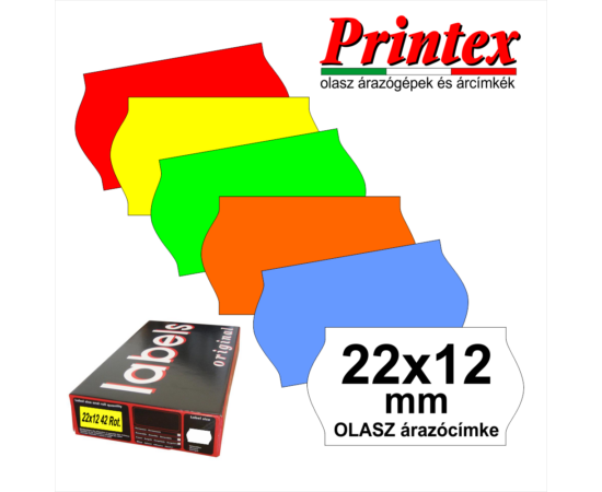 22×12mm OLASZ fehér árazócímke